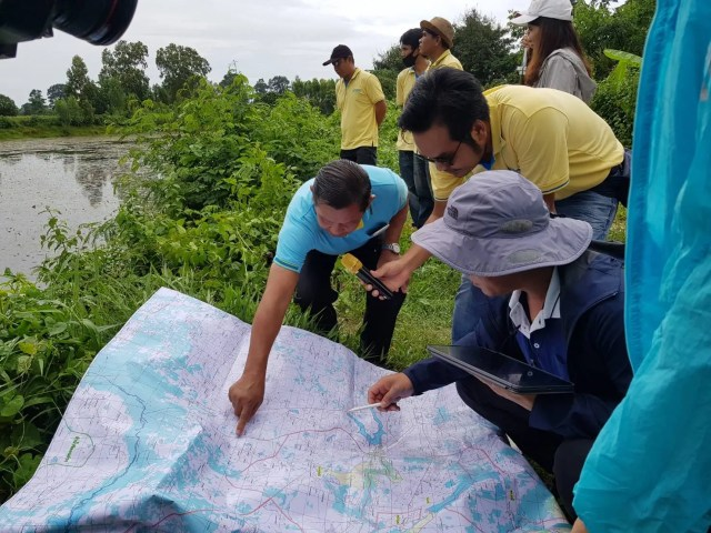 HII organizes a workshop on the utility of Geographic Information System (GIS) – Surveying technology for planning the Water Resource Development at Huay Dang Diao River Basin.