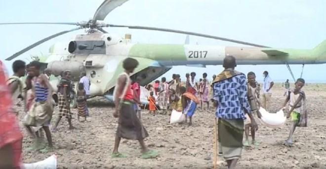 Emergency aid effort in the Afar region. (ENA)