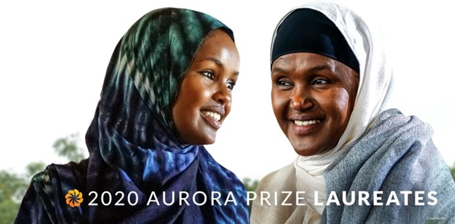 Fartuun Adan and her daughter Ilwad Elman operate Elman Peace, an organization that helps victims of sexual violence and works to rehabilitate and provide job training to child soldiers in Somalia. (Photo courtesy Aurora Prize for Awakening Humanity)