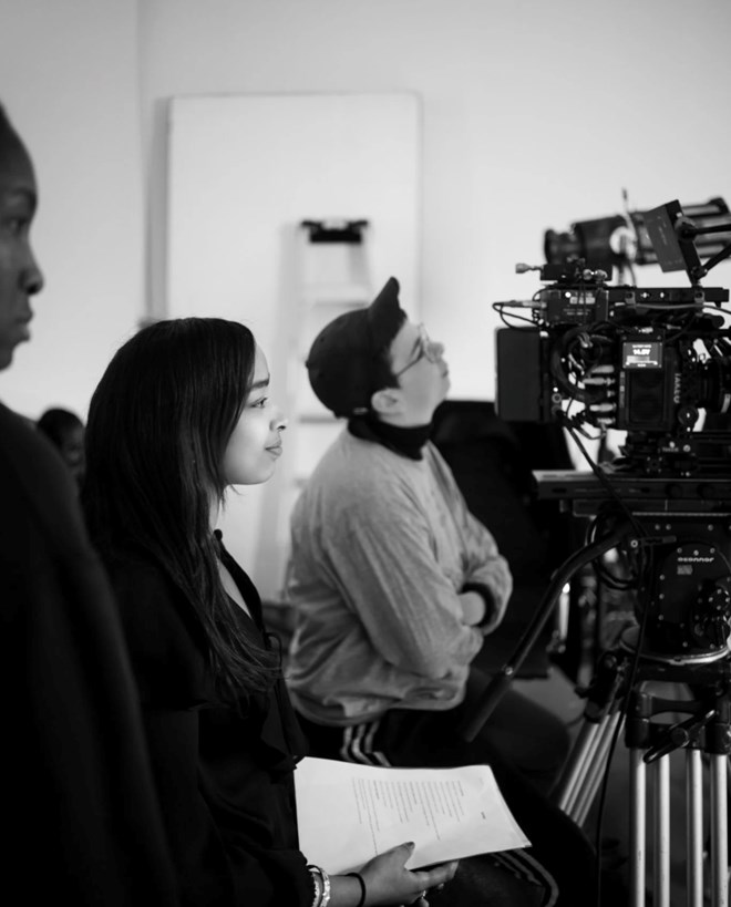Awa Farah, this time behind the scenes (credit: Alice Aedy)