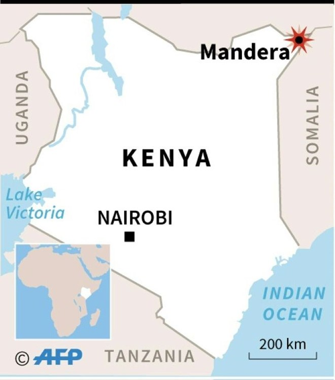 The incident took place at the frontier between the Somali town Bulo Hawo and Kenya's Mandera, close to where the border meets Ethiopia to the north