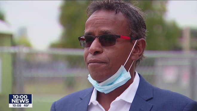 Abdirizak Bihi, a long-time community leader and mentor in the Cedar Riverside neighborhood, is calling on parents to curb crime after he was pepper-sprayed and had his car stolen.