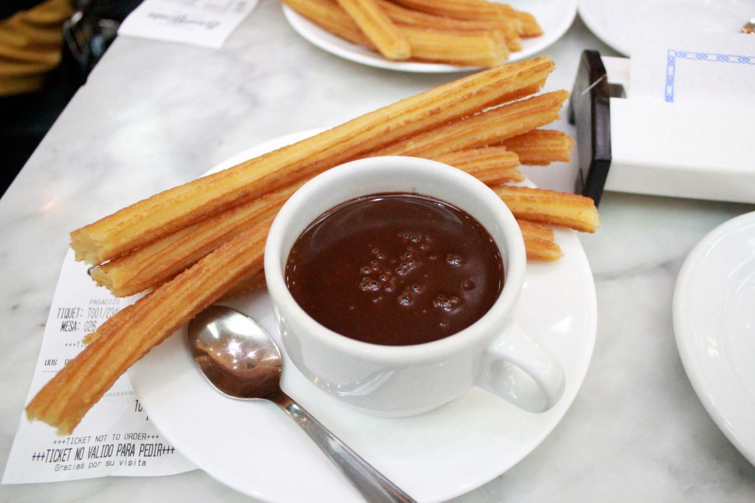 Spain itinerary: Churros con chocolate