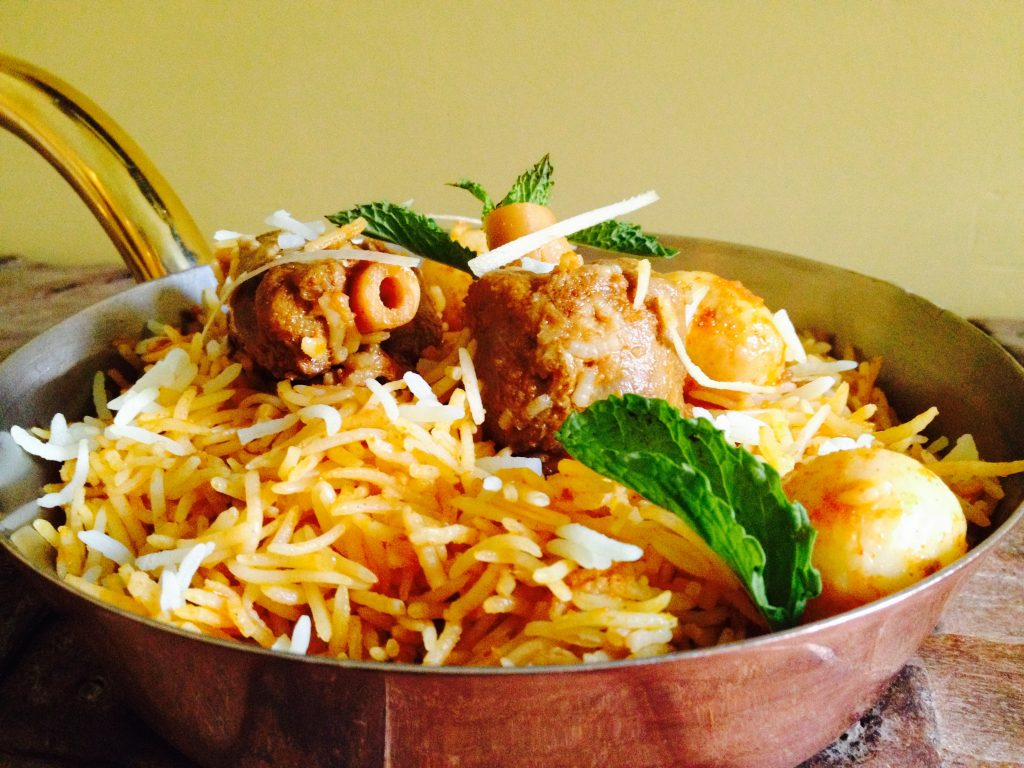 Halal Food in Italy: Lamb Biryani