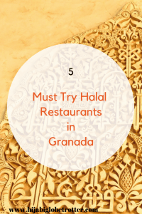 Pinterest pin: 5 must try halal restaurants in Granada