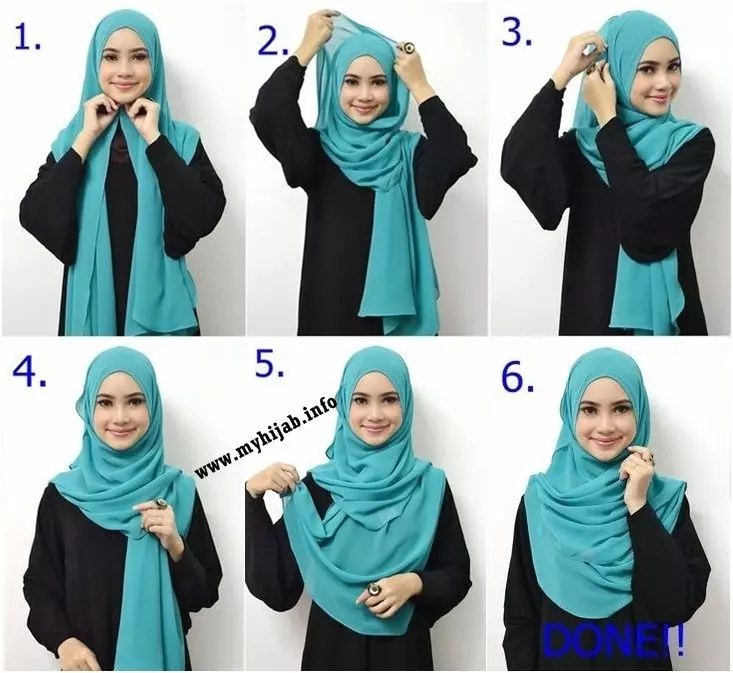 Beautiful Hijab Tutorial For The Round Face