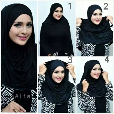 hijab style black and white dresses