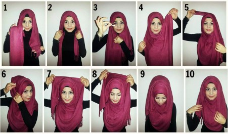 new hijab style 2016-17 step by step