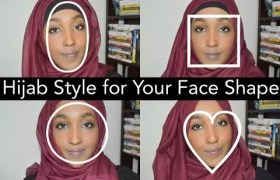 hijab styles to suit face shapes