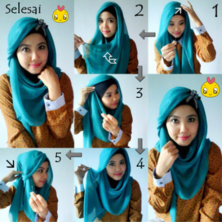 Hijab Tutorial Segitiga Simple