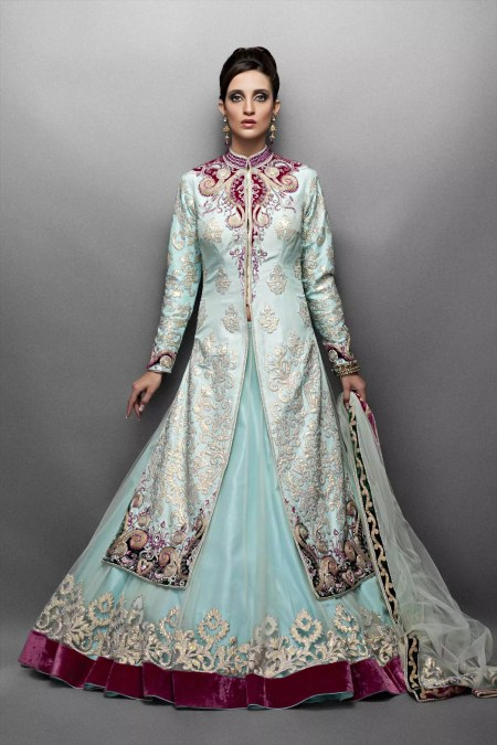indian and pakistani bridal lehenga