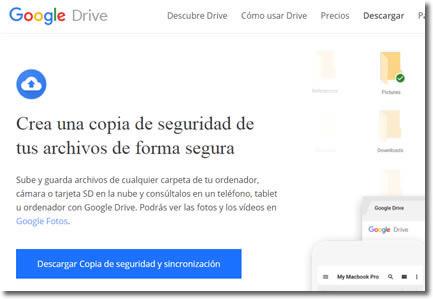 Backup and Sync es el servicio automático de copia de seguridad de Google