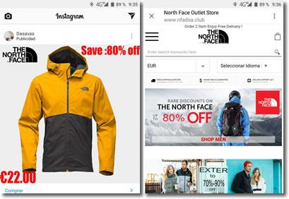 En Instagram se anuncian tiendas falsas que solo intentan estafarnos