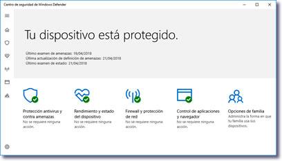 Revisa Windows Defender