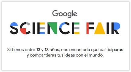 Convocada la Science Fair de Google para jóvenes 2018