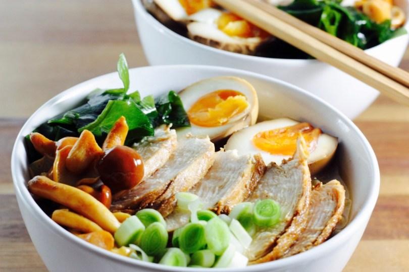 Sopa ramen japonesa