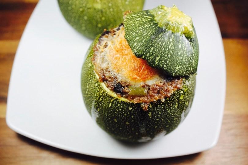 Calabacines luna rellenos de quinoa y frijoles for Cuanto se cocina la quinoa