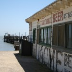 The dock and general store at China Camp Village