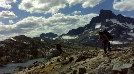 Backpacking over Donahue Pass on the John Muir Trail