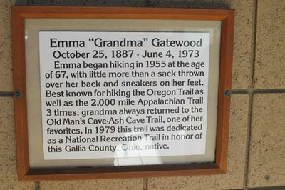 Grandmagatewood plaque - Old Man's Cave