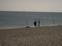 Norfolk Coast Path - fishermen