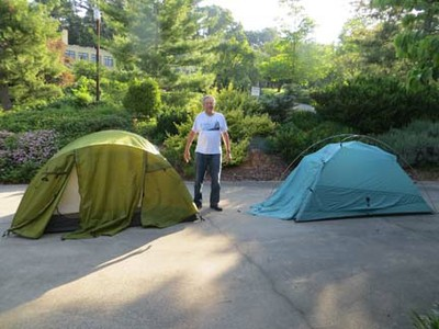 camping with kids - tents