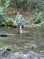 Anna Lee crossing Caldwell Fork - no. 5