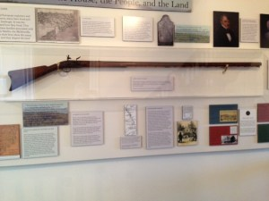 Long rifle used at the battle of Kings Mountain