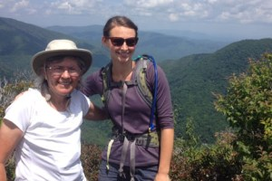 On top of Chimney Tops with Anna Lee