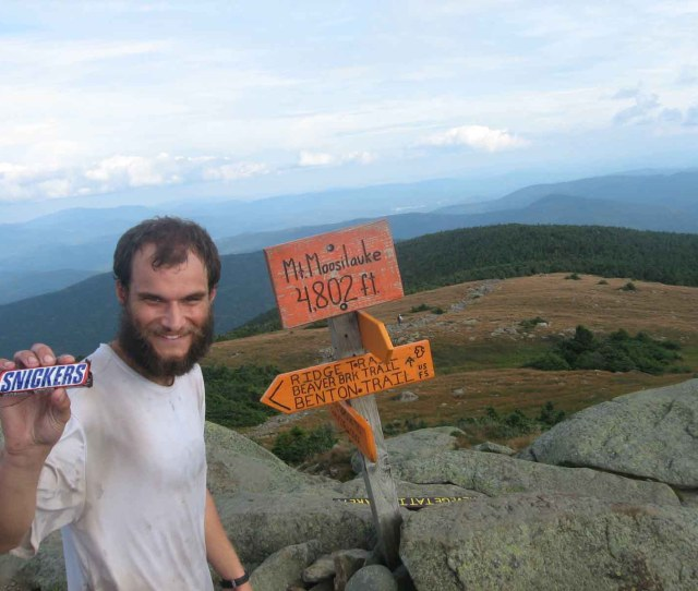 Optimus And His Snicker Bar At The Summit Of Moosilauke