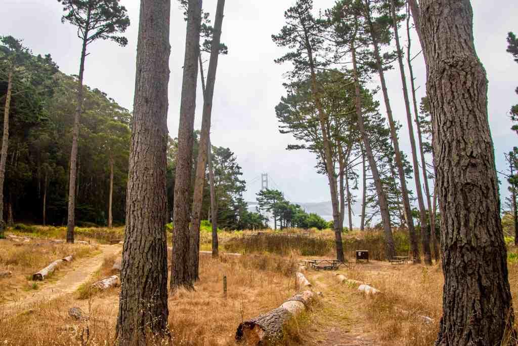 Hiking Tourist Along Marin Headlands | Hike Then Wine