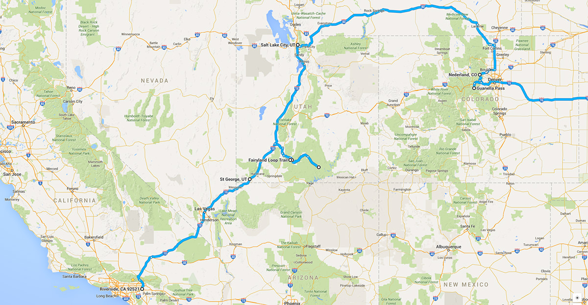 Trip Planning: Utah & Colorado Backpacking, Hiking and Snowshoeing – March 2016