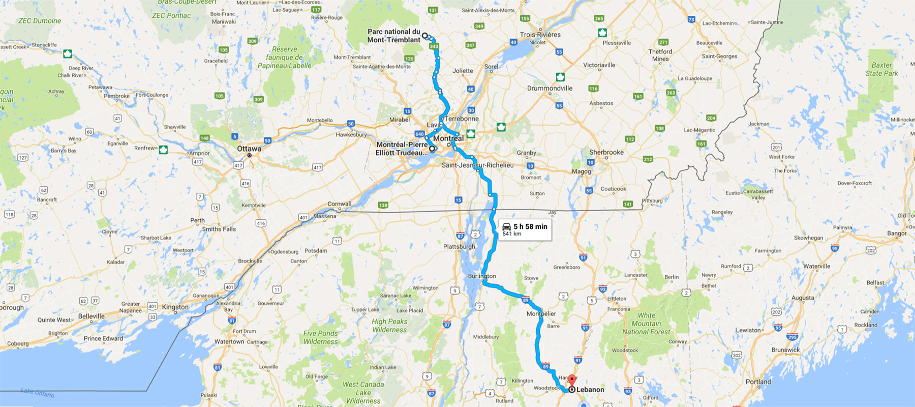 "Trip Planning: Hiking ""near"" Montreal, September 2017"