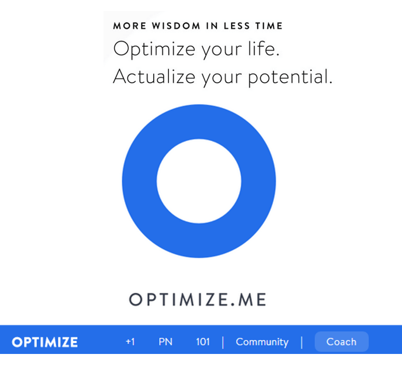 LEARN ABOUT OPTIMAL LIVING – OPTIMIZE.ME Review