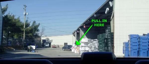 E-waste Pull In area