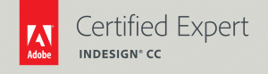Adobe Certified Expert InDesign Badge