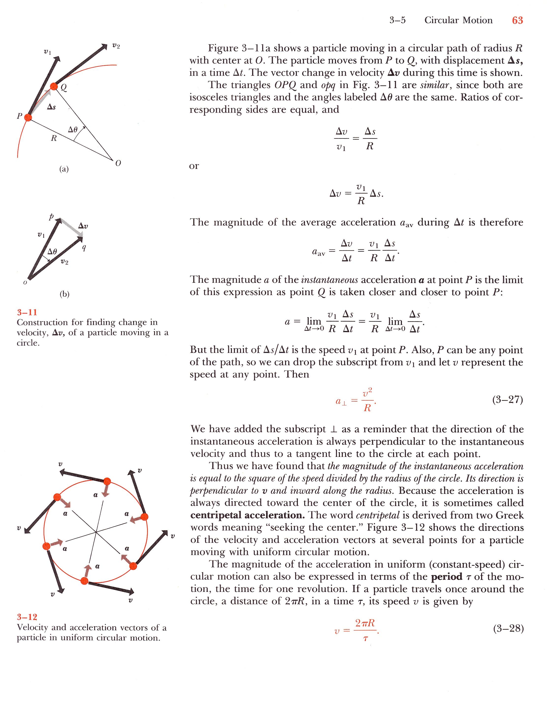 Centripetal Force Equation Proof