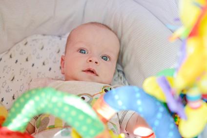 Baby Schreit Im Kinderwagen