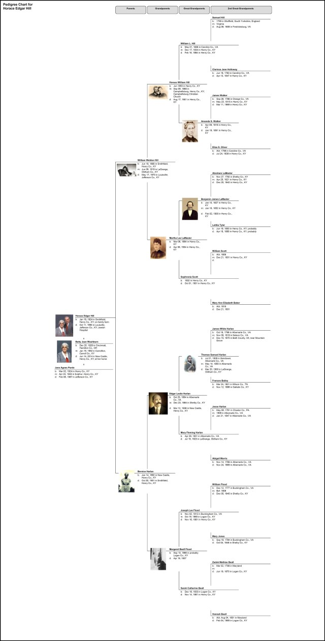 Pedigree Chart for Horace Edgar Hill2