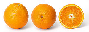 Orange fruit and cross section