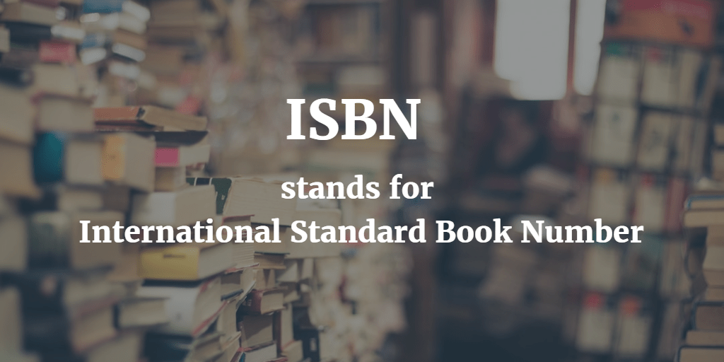 Do you need an ISBN to submit your play to schools and other opps?