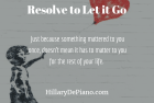 Resolve to Let It Go