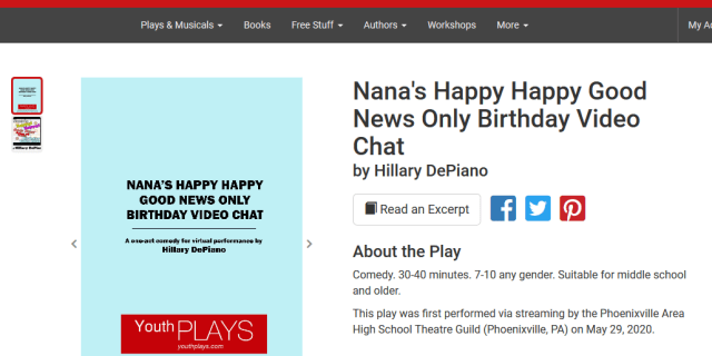 Nana's Happy Happy Good News Only Birthday Video Chat now available from YouthPLAYS