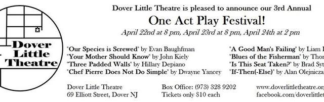 Three Padded Walls is part of The Dover Little Theatre's One Act Play Festival April 22nd-24th