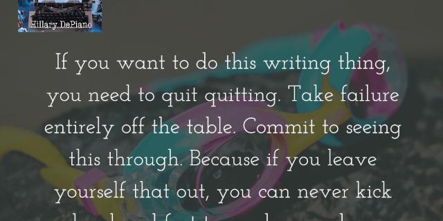 Take failure off the table