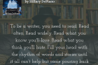 Read to be a better writer