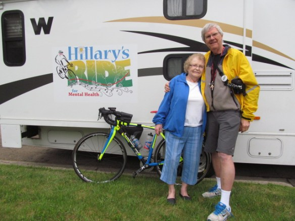 Ethel and (photographer/support driver) Al Click photo for more photos from their rest day