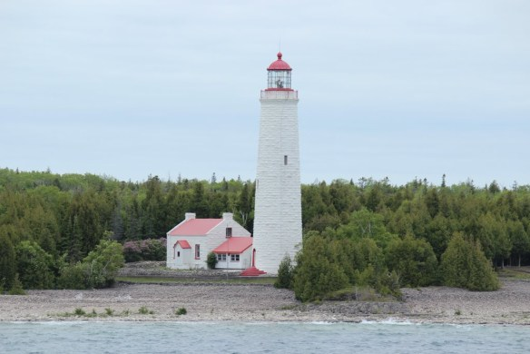 A light to guide us - approaching Tobermory, Ontario Click the image for more pics from day 41