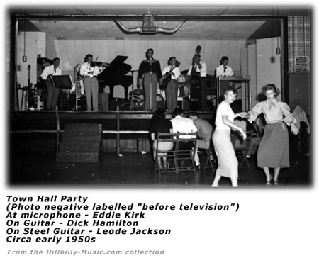 Image result for town hall party tv show 1952
