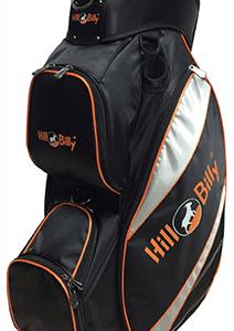 Deluxe Lite Cart Bag Black and Orange